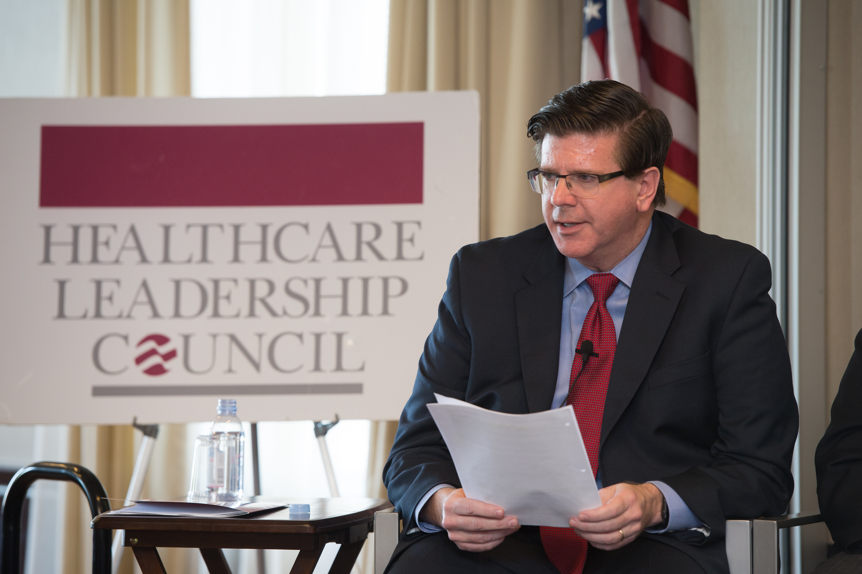 WASHINGTON, DC - APRIL 20: Healthcare Leadership Council panel discussion on interoperability on April 20, 2017 in Washington, DC. (Photo by Kate Patterson)